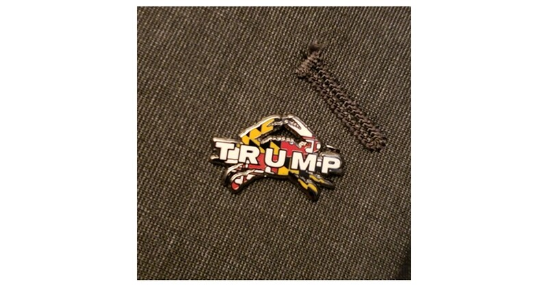 Maryland for Trump Crab Pin