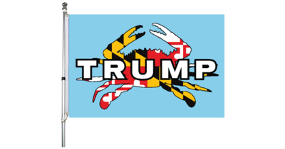 Maryland for Trump Crab Flag 2' x 3'