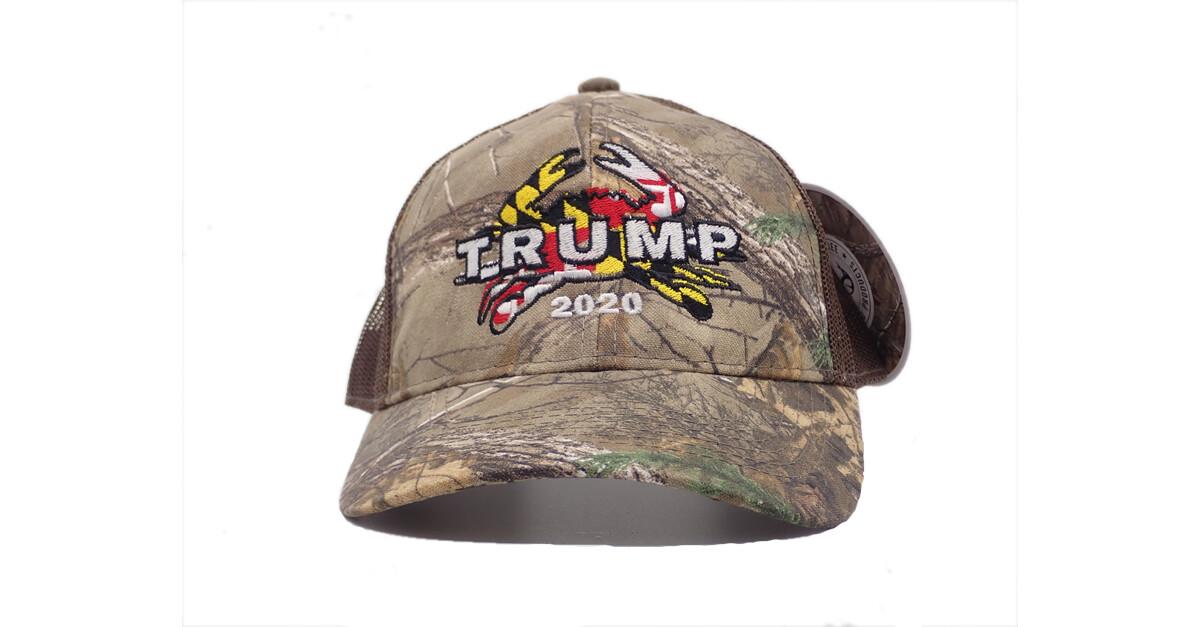 Maryland for Trump 2020 Crab Realtree Camo Hat