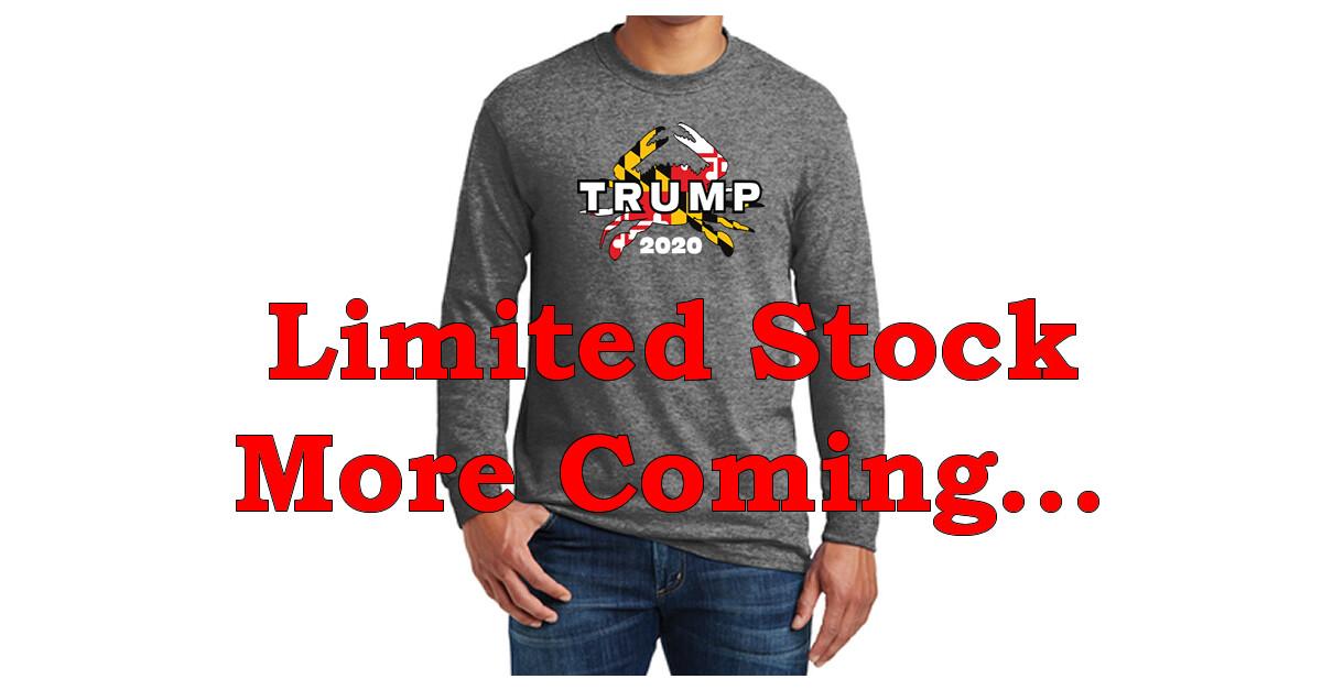Maryland for Trump 2020 Crab Long Sleeve T-Shirt