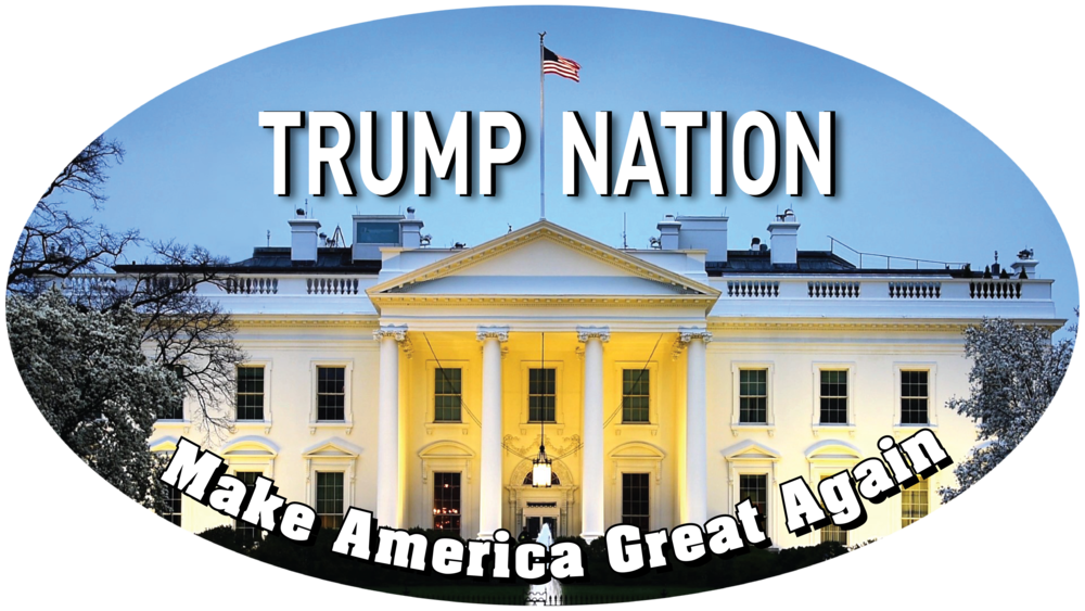 "Trump Nation - 3""x5"" White House Oval Sticker"