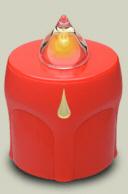LED Kerze Rot mit Träne Leuchtet 300 Tage (10 Monate)