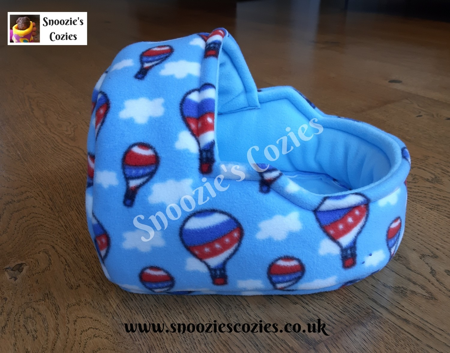 CUDDLE & SNOOZE BED - Balloons/Baby Blue