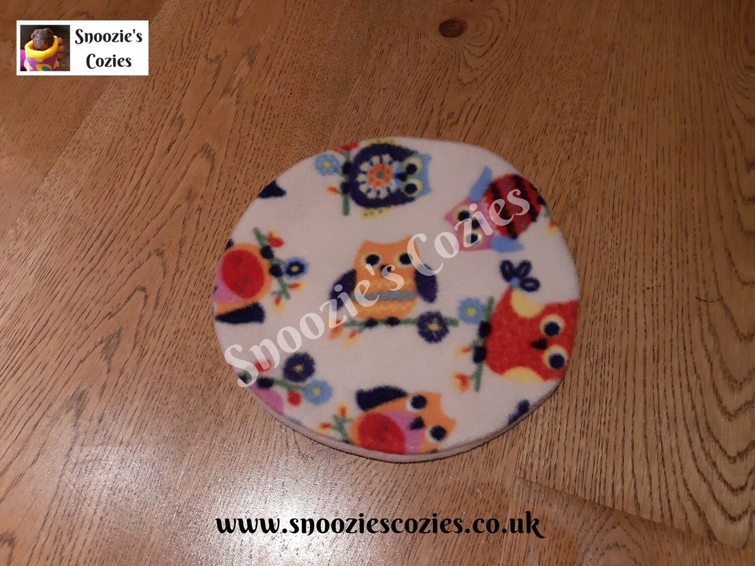HEAT PAD COVER -Owls/Stone FREE UK P&P