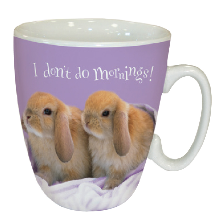 I Don't Do Mornings Bunny Mug