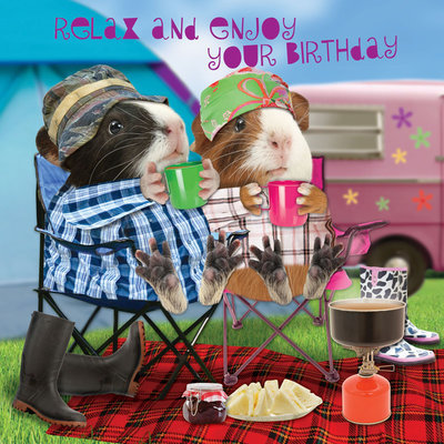Happy Birthday Campers Birthday Card