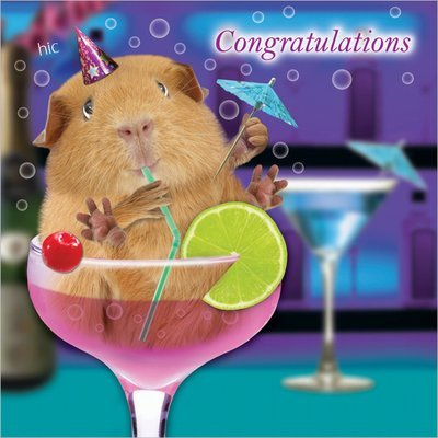 Congratulations Cocktails Card (BLANK INSIDE)