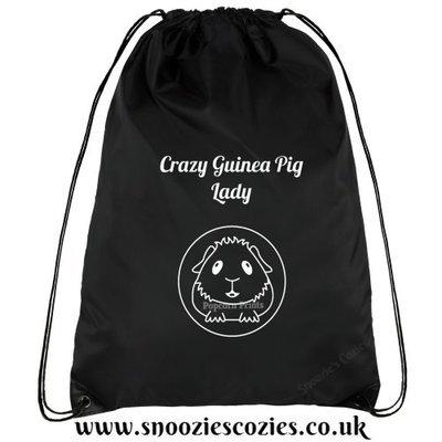 GUINEA PIG DRAWSTRING BAG - Crazy Guinea Pig Lady FREE UK P&P