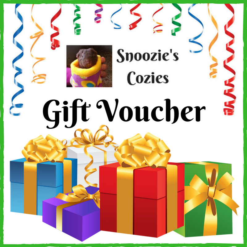 Snoozie's Cozies Gift Voucher - choose your value