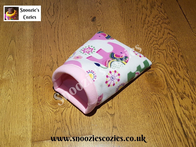 Snoozies Cozie - Cream Elephants/Rose Pink