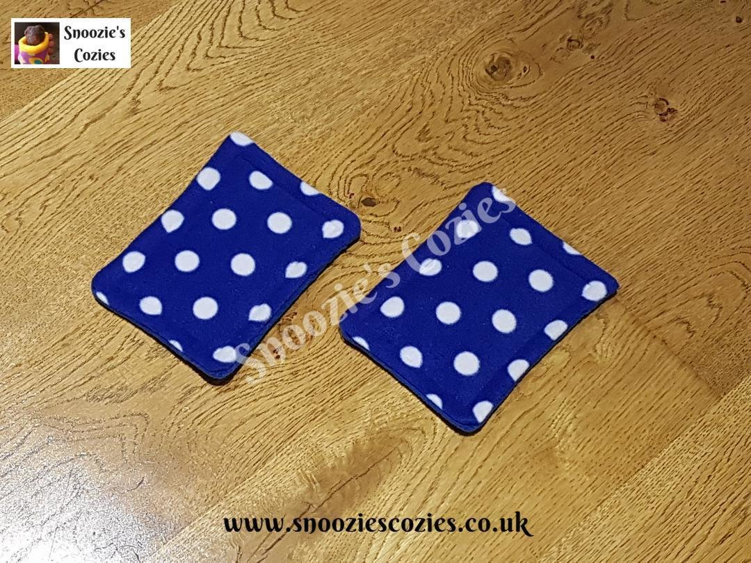 WATERPROOF BOTTLE PADS (PAIR) - Blue Spot/Royal Blue FREE UK P&P