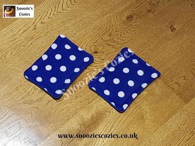 WATERPROOF BOTTLE PADS (PAIR) - Blue Spot/Royal Blue FREE UK P&P