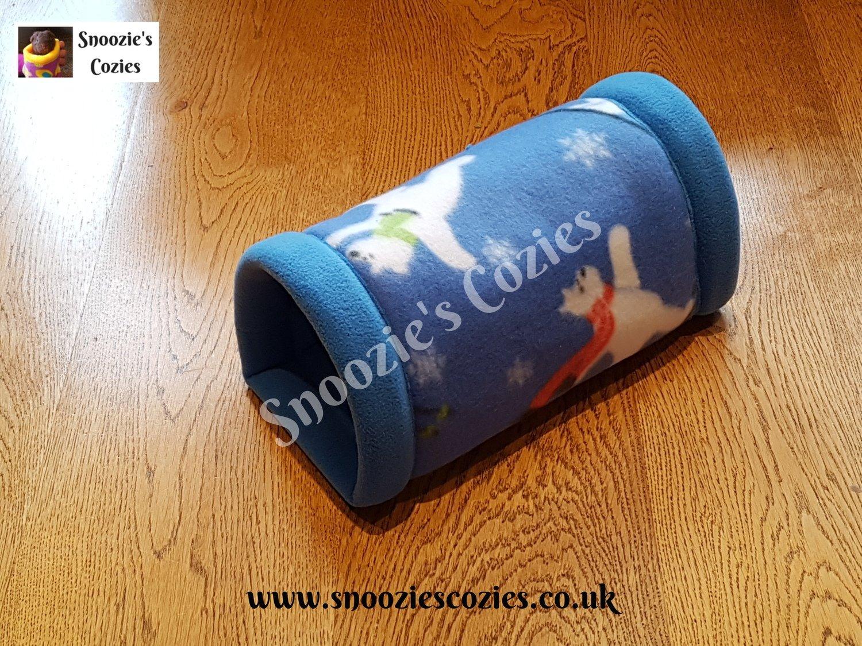 Snoozie Tunnel - Blue Polar Bears/Cornflower