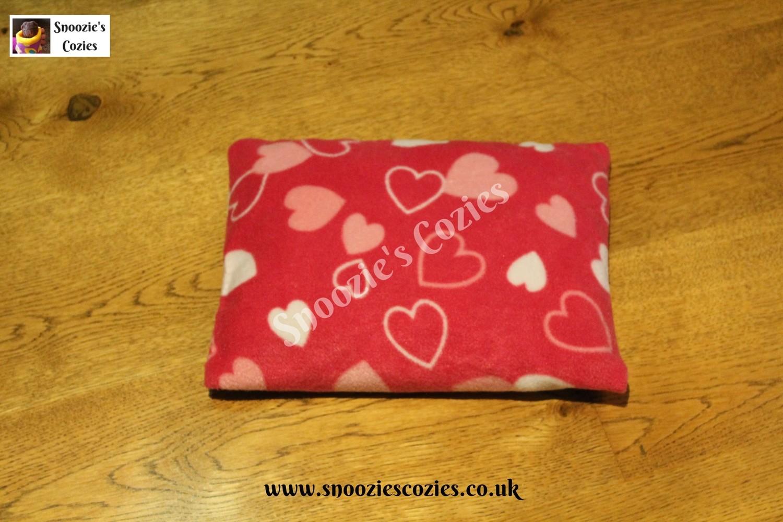 Piggy Pillow - Cerise Hearts