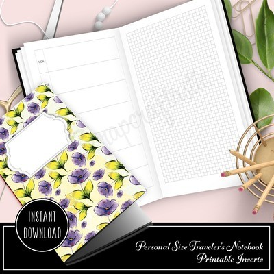 PERSONAL TN - HOBO Style Traveler's Notebook Printable Planner Insert