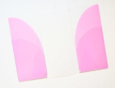 PINK Multi Pocket Tri-fold Brochure Poly Folder