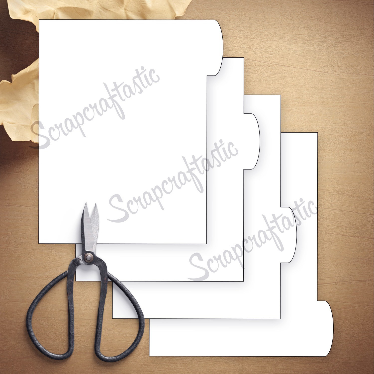 MICRO - 4 Rounded Tab Divider Printable Templates and Cut Files