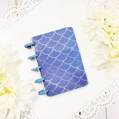 Blue Mermaid Scales Pocket Disc Bound Notebook
