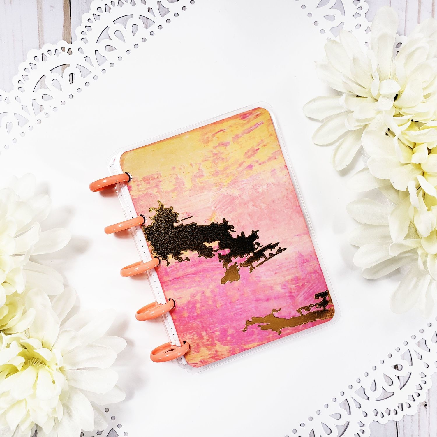 Peachy Gold Pocket Disc Bound Notebook