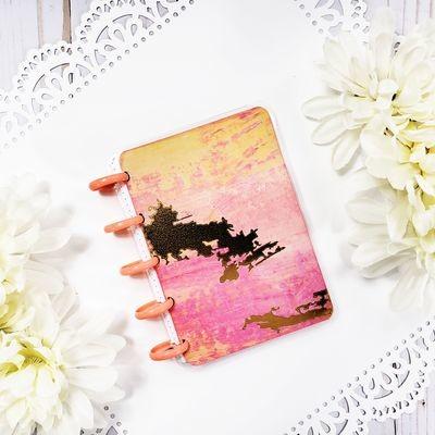 Peachy Gold Pocket Disc Bound Notebook