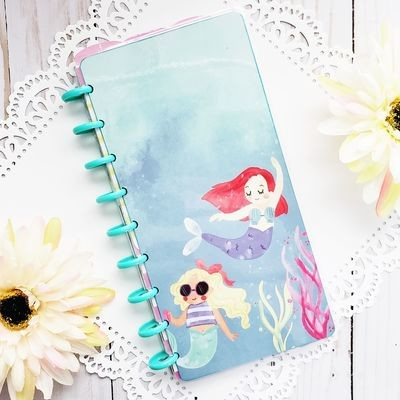 Mermaid Fauxbonichi Half Sheet Disc Bound Notebook and Planner