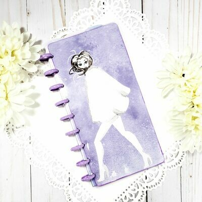 Fashion Plate Lavendar Fauxbonichi Half Sheet Disc Bound Notebook and Planner