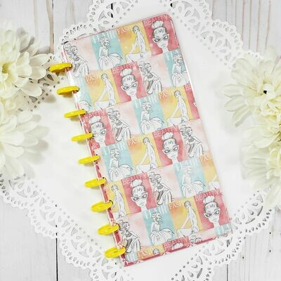 Fashion Pattern Fauxbonichi Half Sheet Disc Bound Notebook and Planner