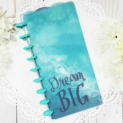 Dream Big Fauxbonichi Half Sheet Disc Bound Notebook and Planner