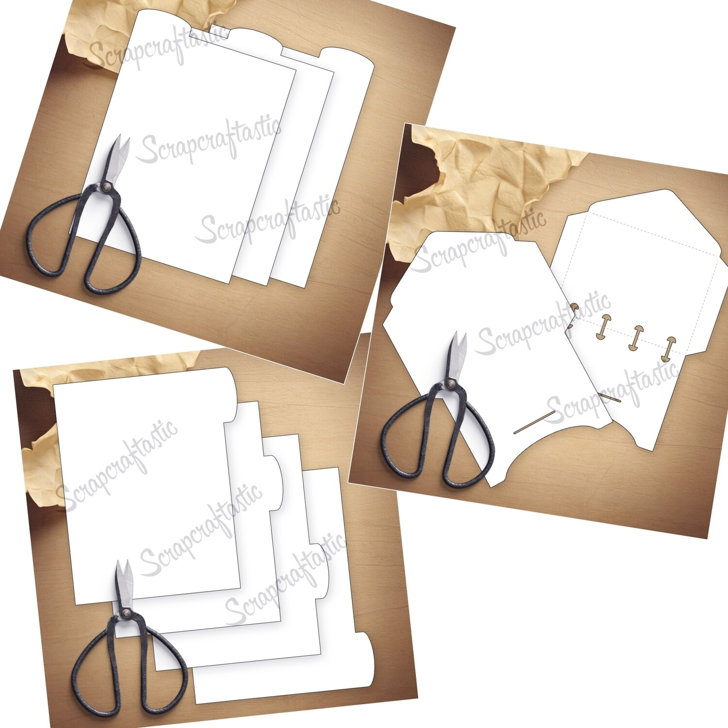 MICRO DISC BUNDLE - Envelope, Rounded Tab Divider, and Rounded Top Tab Divider Printable Templates & Cut Files