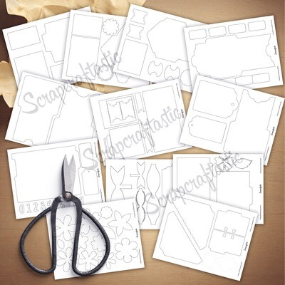 Journal Lovers 80 Piece SVG Bundle Printable Templates and Cut Files