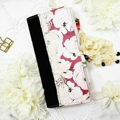 Velvet Blooms Standard Traveler's Notebook Size Junk Journal