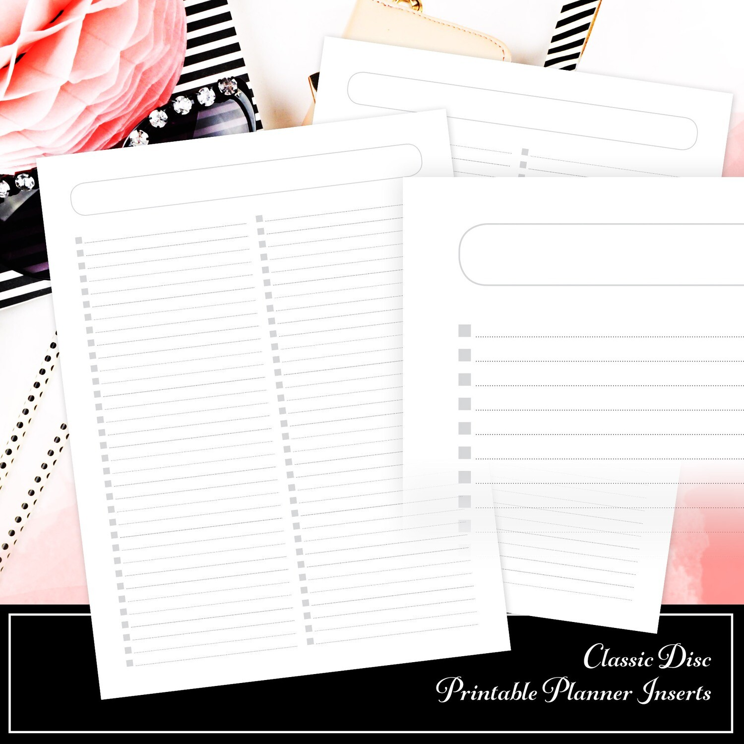 CLASSIC - Checklist Printable Planner Inserts