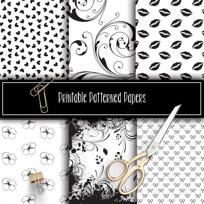Flourish Printable Patterned Papers Collection FOIL READY
