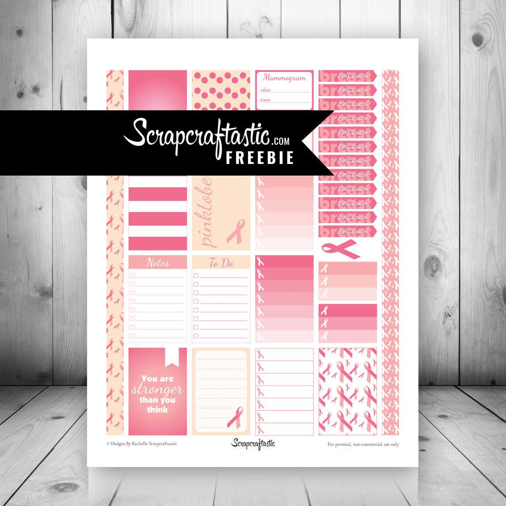 Pinktober FREE Printable Planner Stickers dbr_pinktober