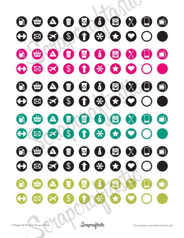 Planner Pro Icon Set   Printable Planner Stickers, Erin Condren, ECLP, Mambi Happy Planner, Travelers Notebook, Filofax, Personal Planner