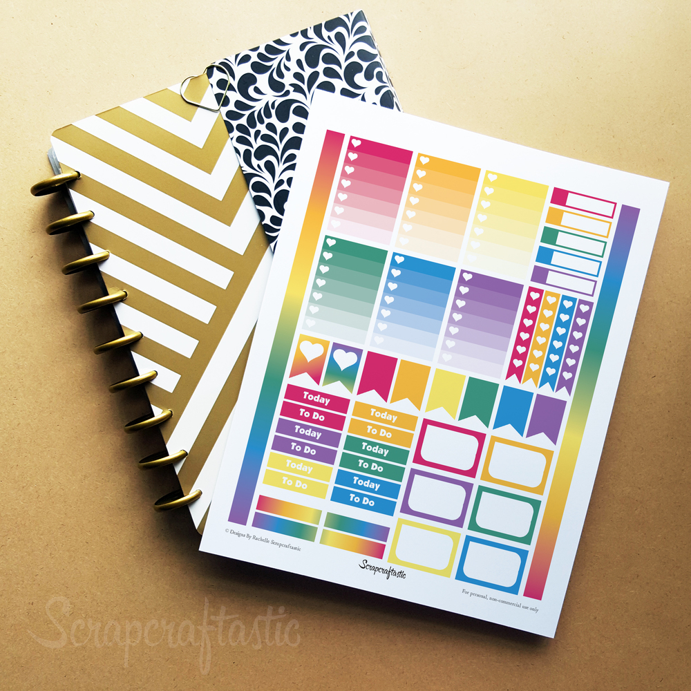 Bubble Gum Printable Planner Stickers for MAMBI Happy Planner
