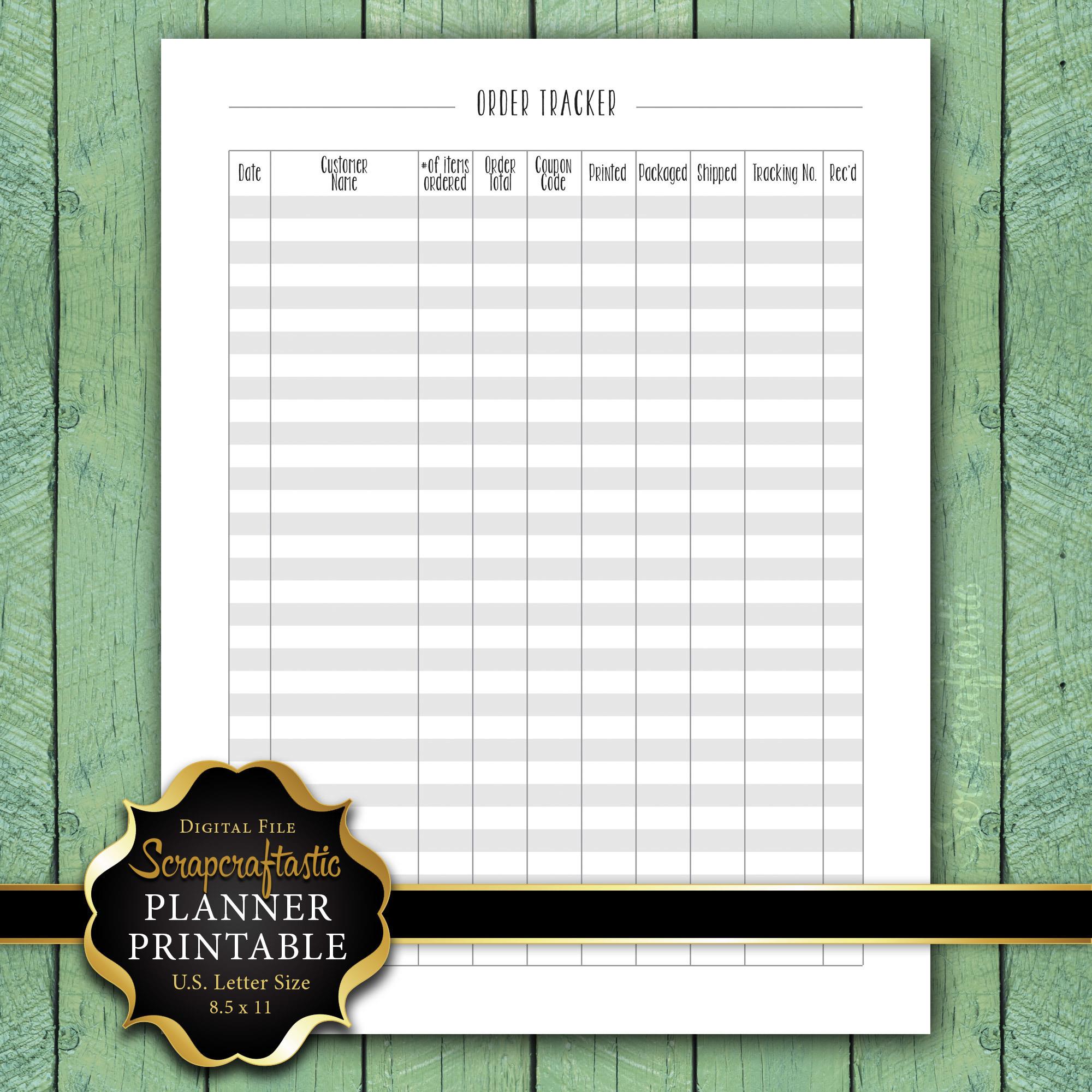 Order Tracker Letter Size Planner Printable dbr_ltr_ordertracker