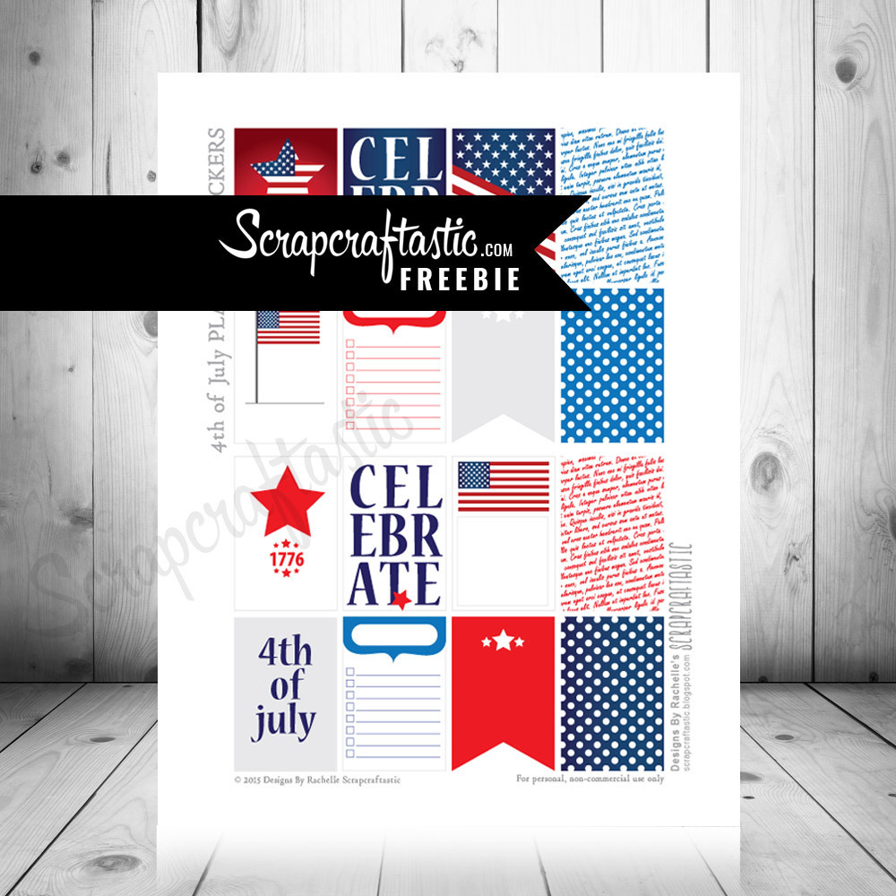 4th of July FREE Printable Planner Stickers for The Happy Planner