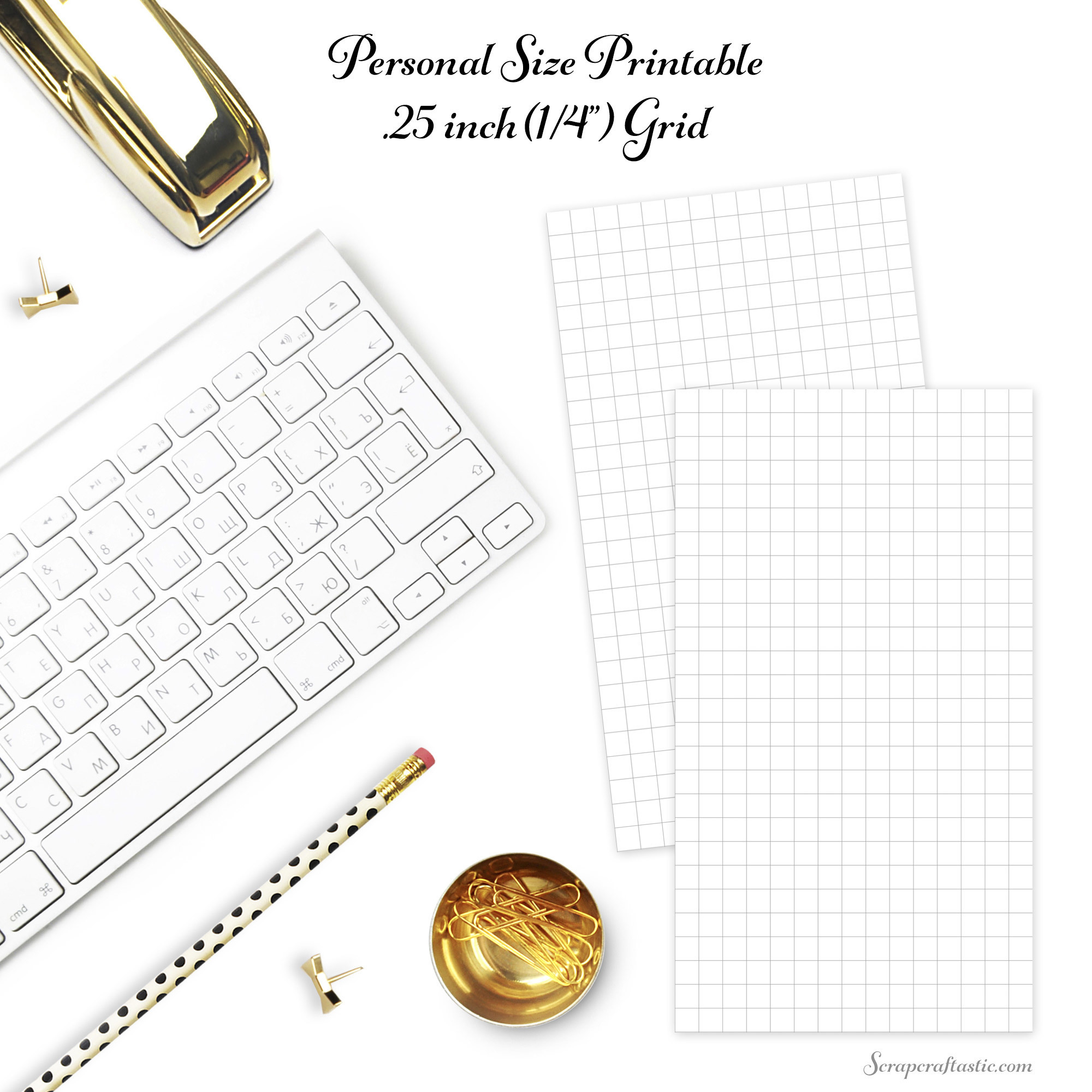 Free Quarter Inch Grid Personal Size Planner Printable Insert dbr_personal_grid25