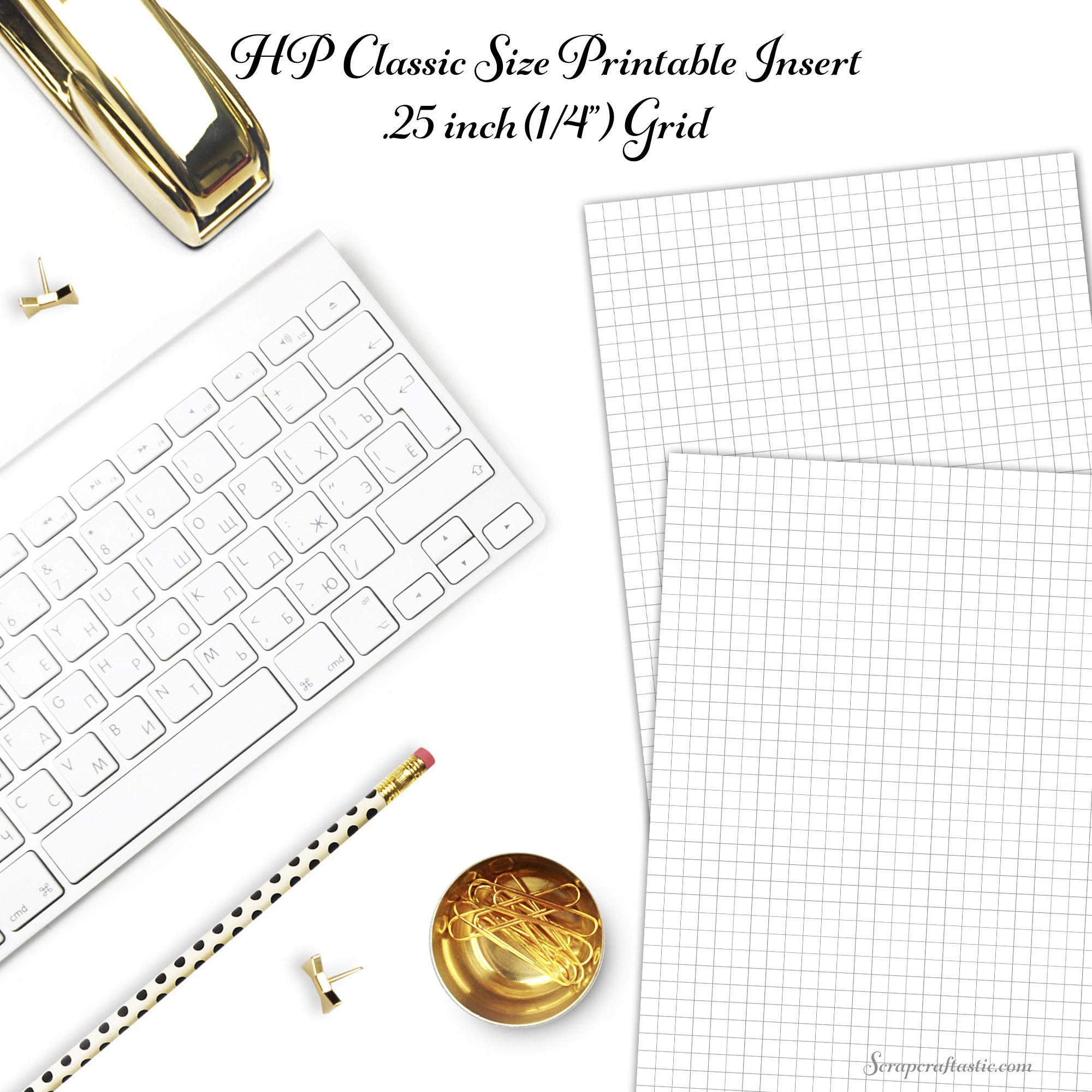 Free HP Classic Size Printable Grid Insert dbr_hp_grid