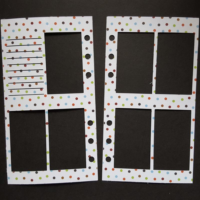WO2P Personal Size Planner Stencil - Neutral Polka Dots WO2P-NeutralPolkaDots