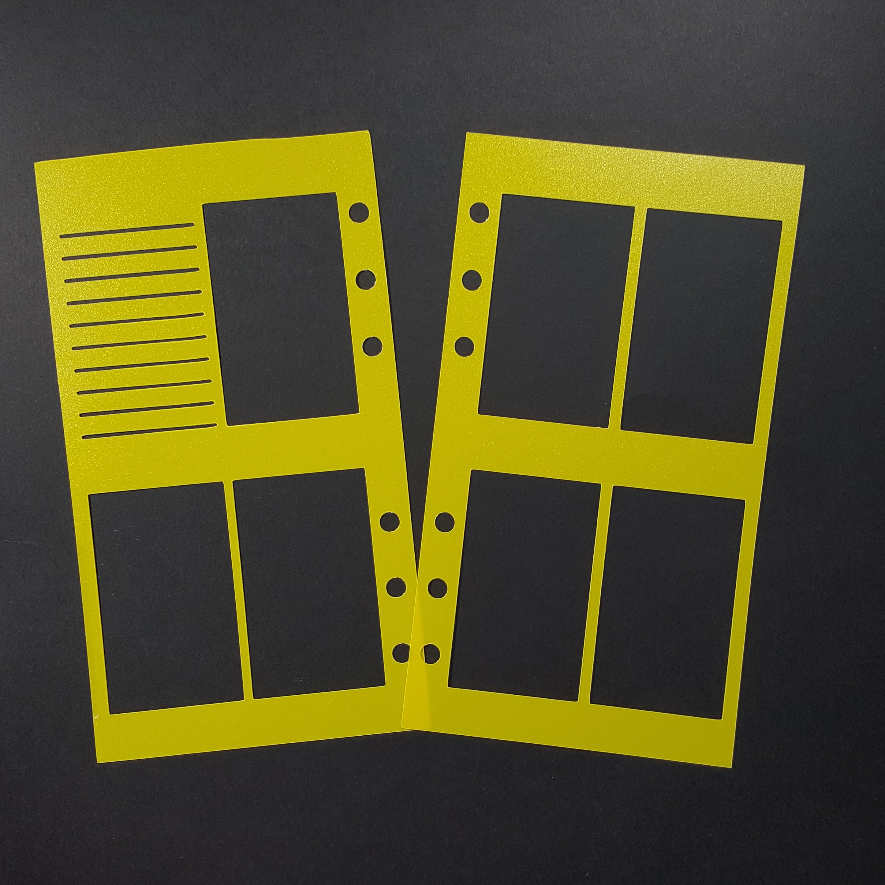 WO2P Personal Size Planner Poly Stencil - Yellow 00603