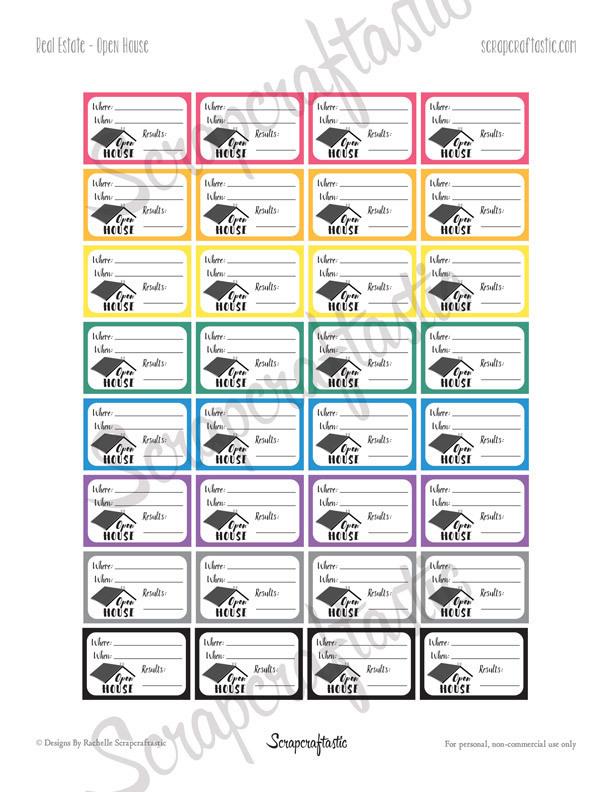 Real Estate Bundle Printable Planner Stickers