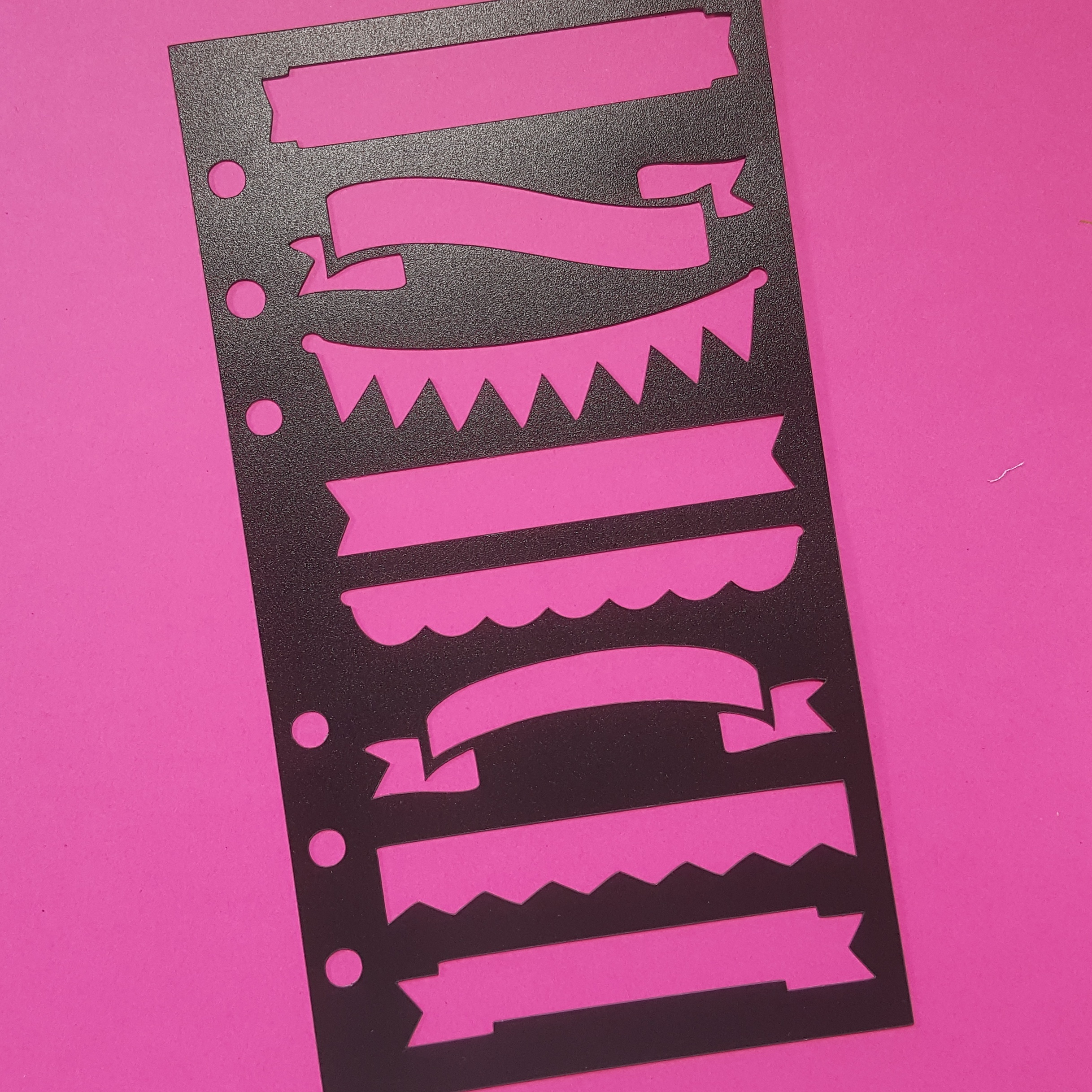 Banner Poly Stencil - Personal Planner Size - Black 00609