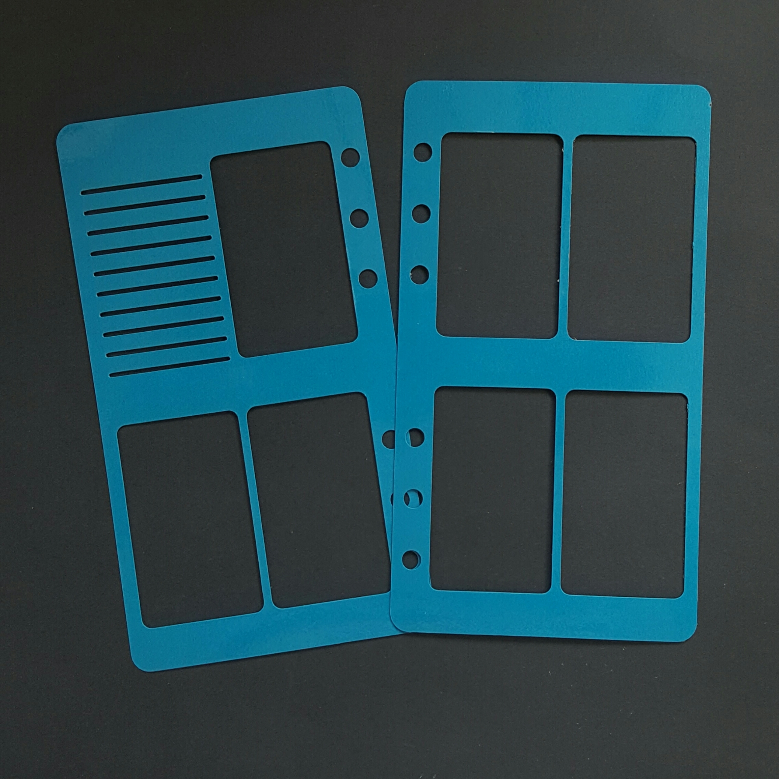 WO2P Personal Size Laminated Planner Stencil - Teal Blue 00621
