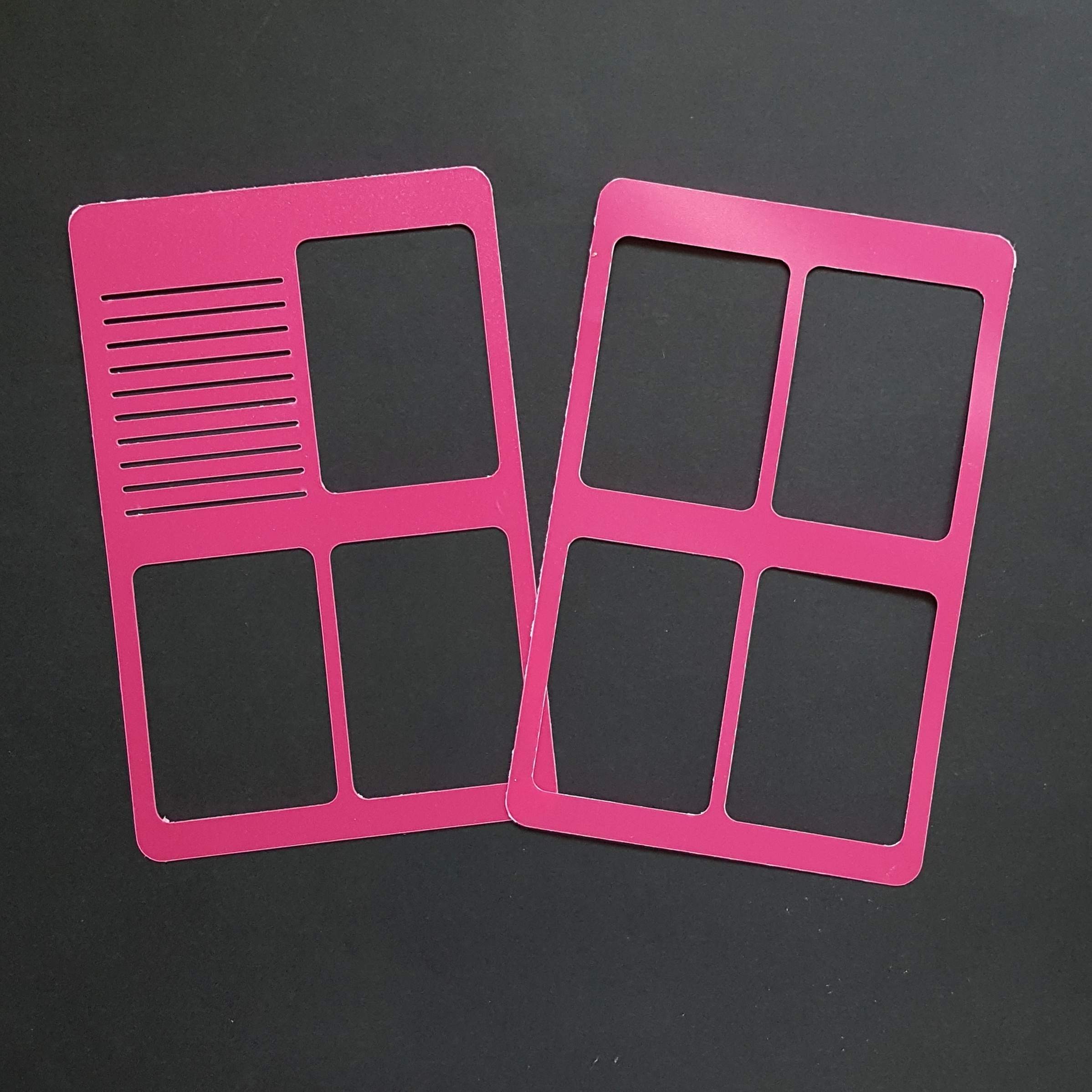 WO2P Pocket Size Planner Poly Stencil - Hot Pink 00618