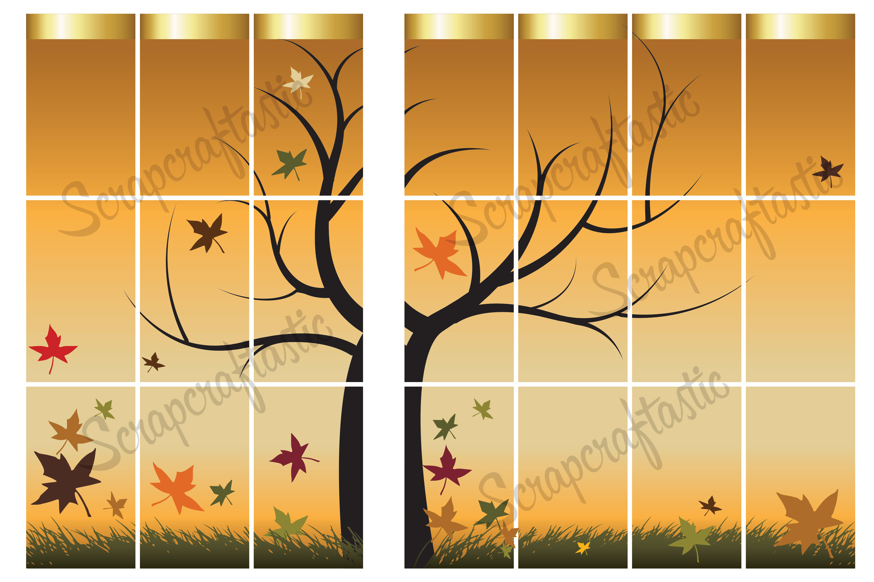 Autumn Printable Planner Sticker Spread for the Classic MAMBI Happy Planner 00033
