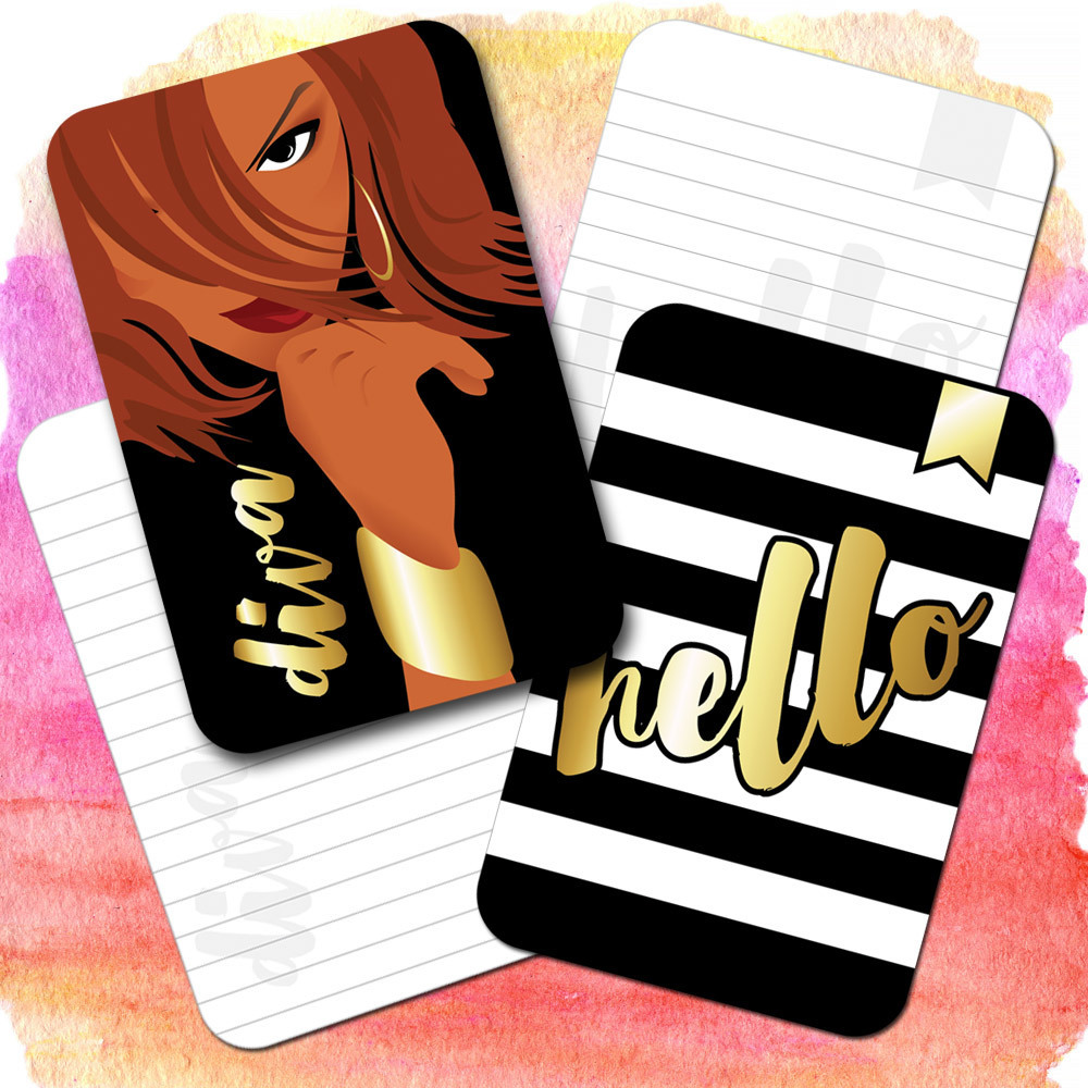 Hello Diva Printable Journaling Cards for Scrapbooking, Mini Albums, List Challenges, Planners
