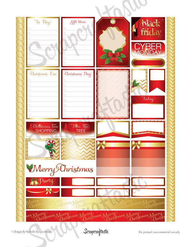 Thanksgiving Planning Printable Planner Stickers for (EC) Erin Condren Life Planner