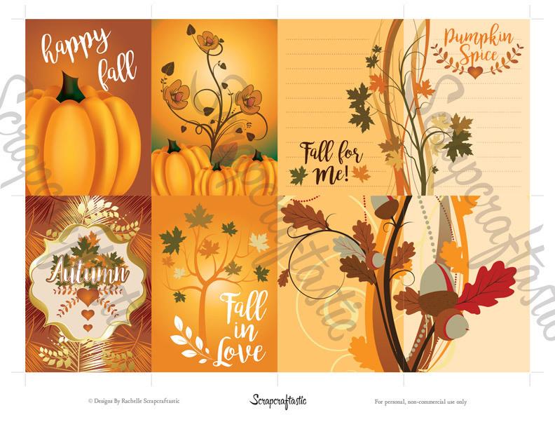 Pumpkin Spice ATC-ACEO Card Digital Collage Print Sheet